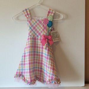 Bonnie Jean Balloon Bouquet Dress 4 Toddler